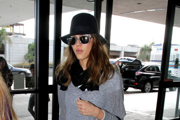 Jessica Alba Travels in Style