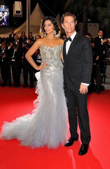 Matthew McConaughey And Camila Alves At The 2012 Cannes Film Festival