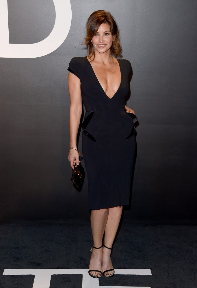 Gina Gershon Celebs At The Tom Ford Fall 2015 Show