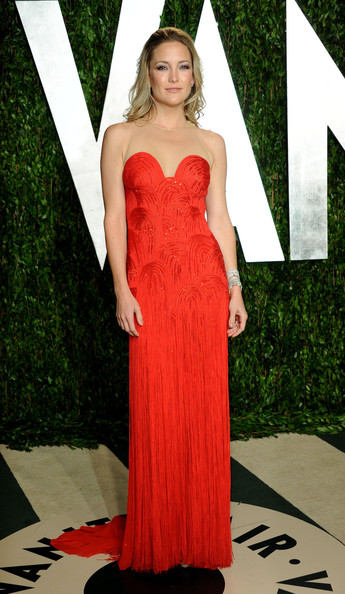 Kate In Versace At The Vanity Fair Oscar Party, 2012
