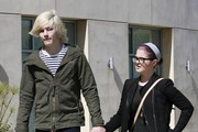 Kelly Osbourne and her boyfriend Luke Worrall spotted out and about in Beverly Hills, CA.