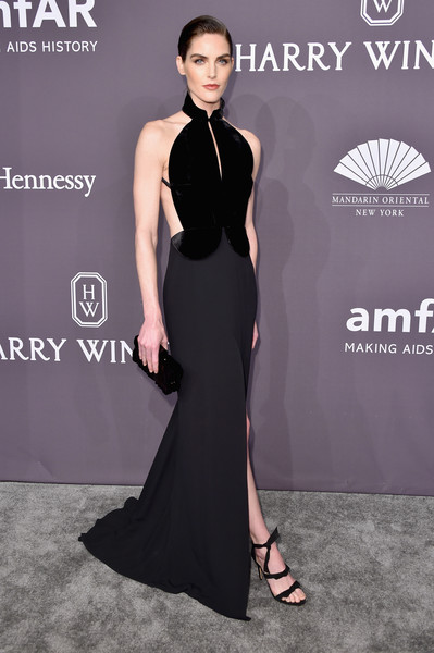 Hilary Rhoda in Brandon Maxwell at the afAR New York Gala