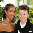1992: Iman and David Bowie