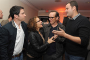 (L-R) Actor Chris Messina, Jennifer Grey, Clark Gregg and television producer Jamie Patricof attend the 2014 Tribeca Film Festival LA Kickoff Reception at The Beverly Hilton Hotel on March 17, 2014 in Beverly Hills, California.
