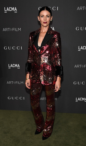 Liberty Ross in a Sequined Suit
