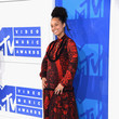 Alicia Keys in a Red Tropical Maxi-Dress