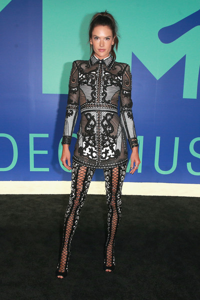 Alessandra Ambrosio in Balmain at the MTV VMAs