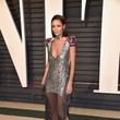 Thandie Newton in a Sheer and Silver Dress