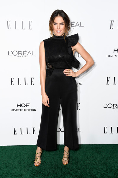 Karla Souza in a Ruffled Jumpsuit