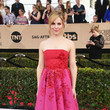 Cara Buono in Vibrant Pink and Red