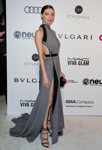 Angela Sarafyan in Backless Draped Silk
