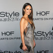 Jordana Brewster in Gunmetal and Mesh