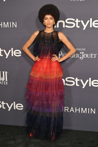 Zendaya Coleman's Fiery Tiered Design