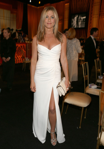 Wearing Pristine White Burberry At A 2012 Event