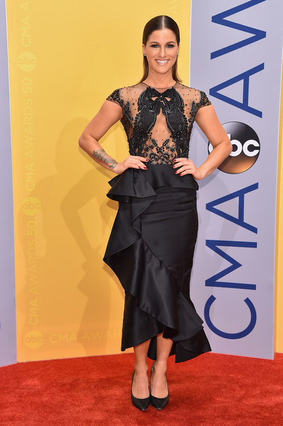 Cassadee Pope in Sheer Black and Ruffles