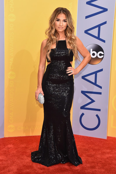Jessie James Decker in Shimmering Cutouts