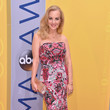 Wendi McLendon-Covey in a Pink Strapless Dress