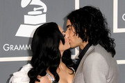 Singer Katy Perry and actor Russell Brand arrive at The 53rd Annual GRAMMY Awards held at Staples Center on February 13, 2011 in Los Angeles, California.