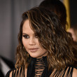 Chrissy Teigen's Wavy Lob at the Grammy Awards