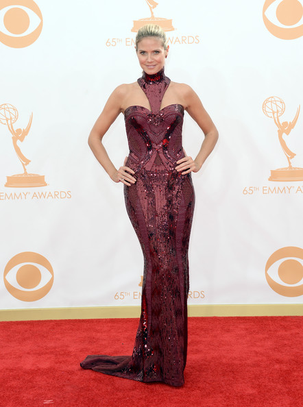 Heidi Klum in Versace at the 2013 Emmy Awards
