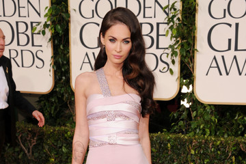 Megan Fox Goes Glam in an Armani Prive Gown at the Golden Globes 2011