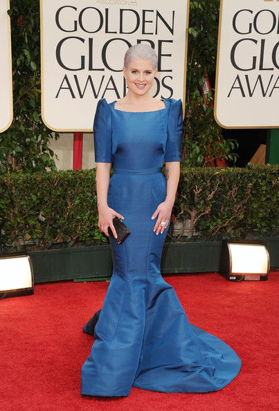 Kelly Osbourne in Zac Posen at the 2012 Golden Globes