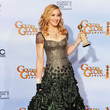 Wearing Beaded Reem Acra On The Red Carpet At The 2012 Golden Globes