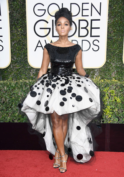 Janelle Monae in Armani Prive at the 2017 Golden Globes