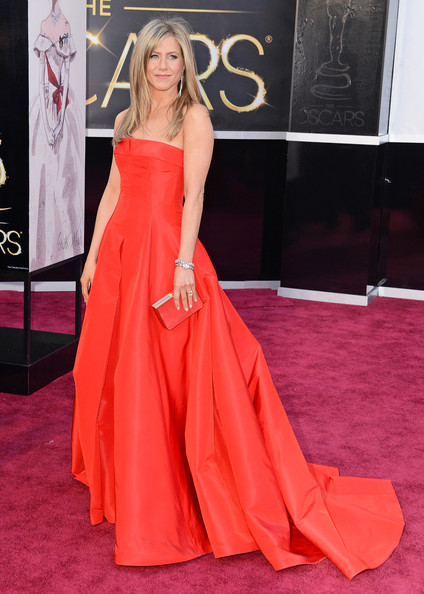 Arriving At The 2013 Academy Awards In Valentino