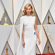 Karlie Kloss in a White Half Cape