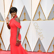 Viola Davis in Off-the-Shoulder Red