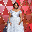 Octavia Spencer in a Stunning Off-the-Shoulder Silver Dress