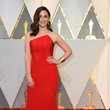 Sara Bareilles in a Structured Red Gown