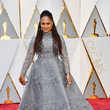 Ava DuVernay in Gray Long-Sleeve Lace Embroidery