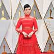 Ginnifer Goodwin in High-Neck Red Lace