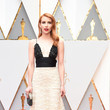 Emma Roberts in Embellished Black and Tan