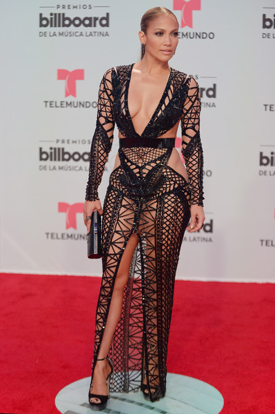 Jennifer Lopez in Julien Macdonald at the 2017 Billboard Latin Music Awards