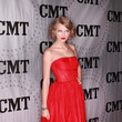 A Red Strapless Dress at the 2011 CMT Artists of the Year