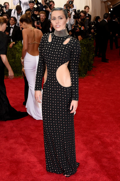 Miley Cyrus in Alexander Wang at the 2015 Met Gala