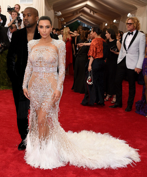 Looking Lovely In Feathered Roberto Cavalli At The 2015 Met Gala