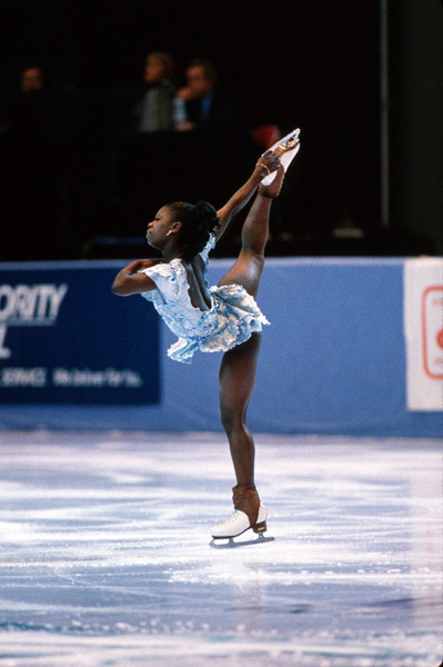 Surya Bonaly's Illegal Back Flip At The Olympics