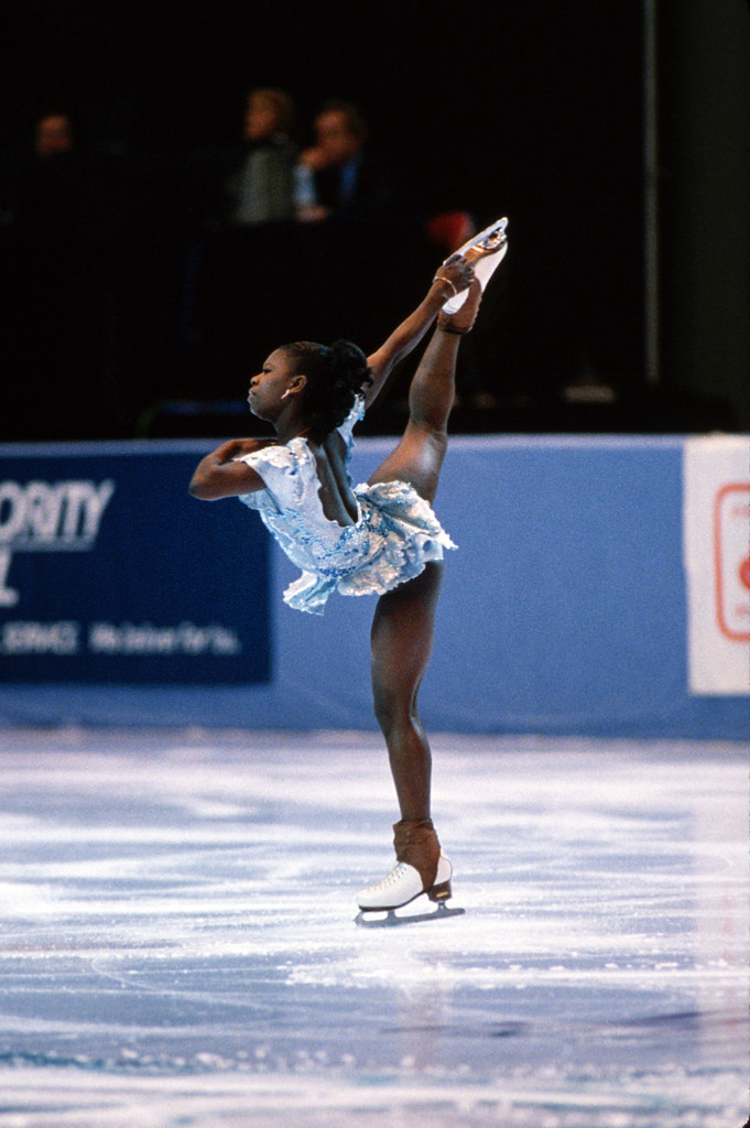 Surya Bonaly S Illegal Back Flip At The Olympics The