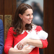 Catherine Duchess Of Cambridge With Her Newborn Son