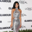 Chanel Iman in Silver Sequins