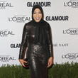 Ibtihaj Muhammad in Long Sleeve Sequins