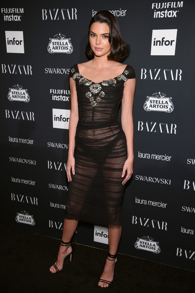 Wearing Sheer Black Dolce & Gabbana At The 2017 Harper's Bazaar Icons Event