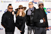 (L-R) apl.de.ap, Fergie, Taboo and  will.i.am of the The Black Eyed Peas attends Jingle Bell Ball 2010 at O2 Arena on December 4, 2010 in London, England.