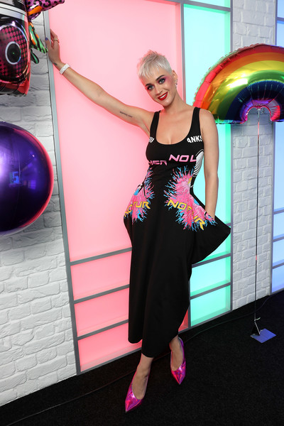 Katy Perry in Stella McCartney at Kiss FM Studios