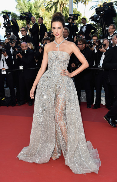 Alessandra Ambrosio in Zuhair Murad at the 2016 Cannes Film Festival