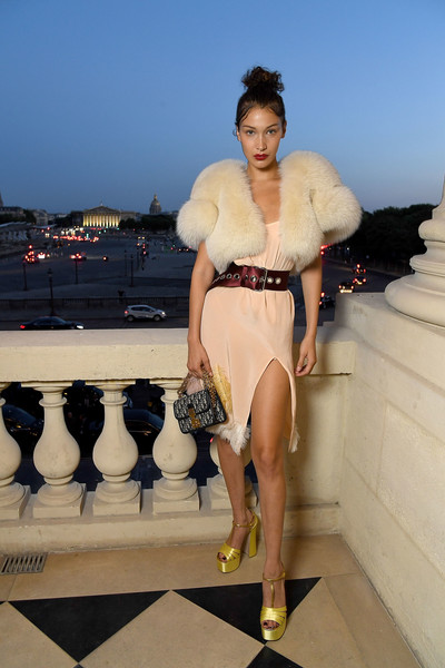 Bella Hadid in Miu Miu at Paris Fashion Week